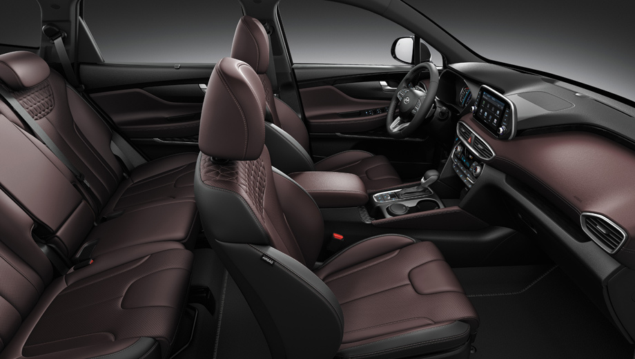 Паркетник Hyundai Santa Fe Black&Brown явился топ-версией